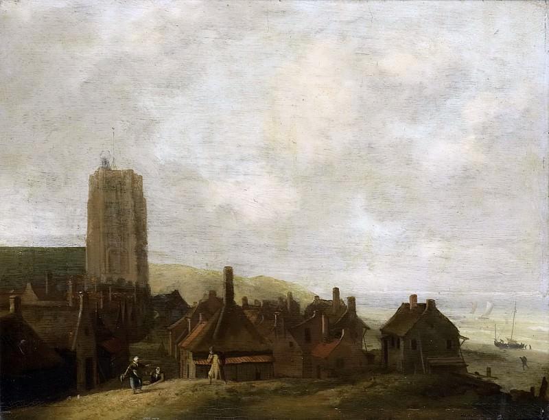 Bakhuysen, Ludolf -- Gezicht op Egmond aan Zee., 1660-1708. Rijksmuseum: part 3