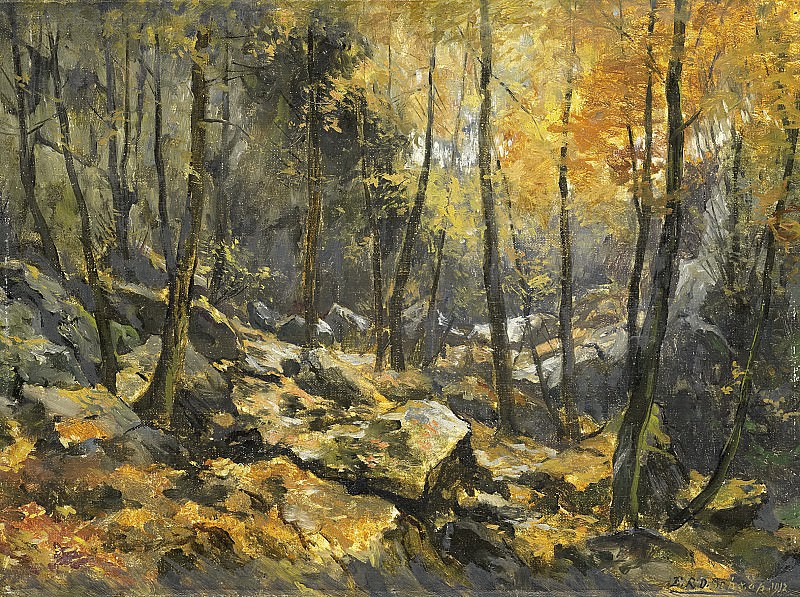 Эгберт Схаап -- Хаос на месте осушенного озера, 1912. Рейксмузеум: часть 3
