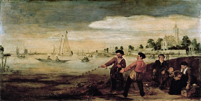 Arentsz., Arent -- Vissers aan de Amstel te Amsterdam in de nabijheid van het buiten 'De Pauwentuin'., 1625-1630. Rijksmuseum: part 3