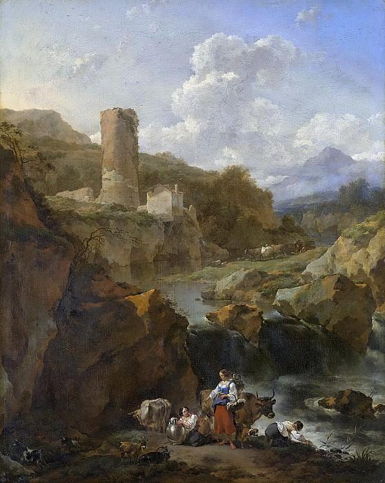 Николас Питерс Берхем -- Итальянский пейзаж, 1656. Рейксмузеум: часть 3