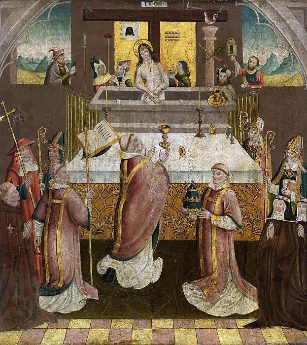 Неизвестный художник -- Месса в память Святого Григория, 1500. Рейксмузеум: часть 3