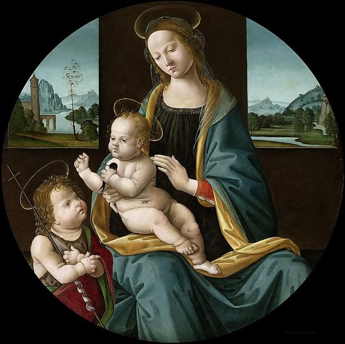 Meester van de Conversazione di Santo Spirito -- Maria met kind en Johannes de Doper, 1490-1510. Rijksmuseum: part 3