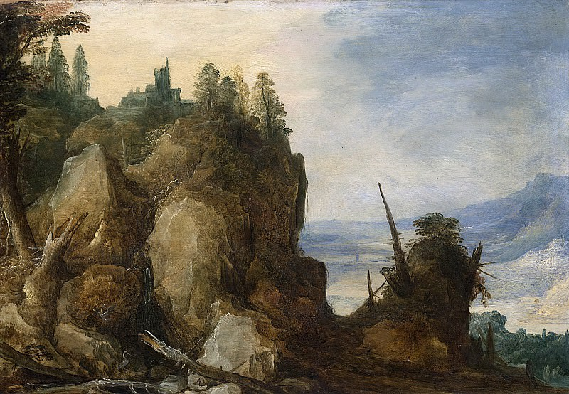 Йос де Момпер (II) -- Горный массив, 1590-1635. Рейксмузеум: часть 3