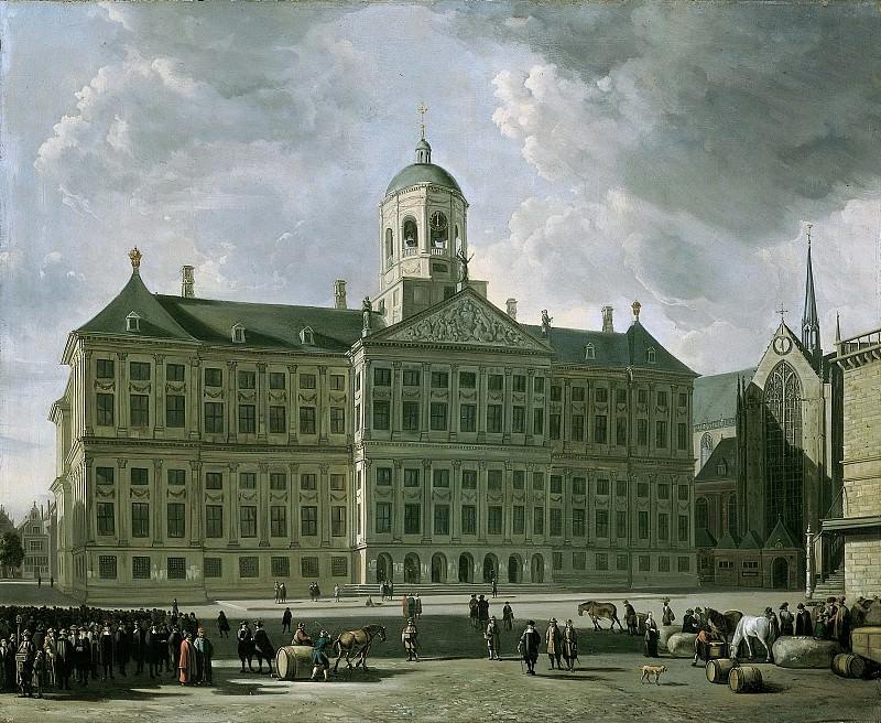 Геррит Адрианс Беркхейде II -- Городская ратуша на амстердамской дамбе, 1673. Рейксмузеум: часть 3