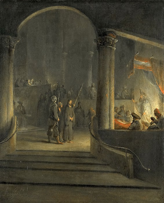 Арент де Гелдер -- Христос перед Каиафой, 1700-1727. Рейксмузеум: часть 3