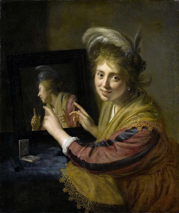 Moreelse, Paulus -- Meisje bij een spiegel, 1632. Rijksmuseum: part 3