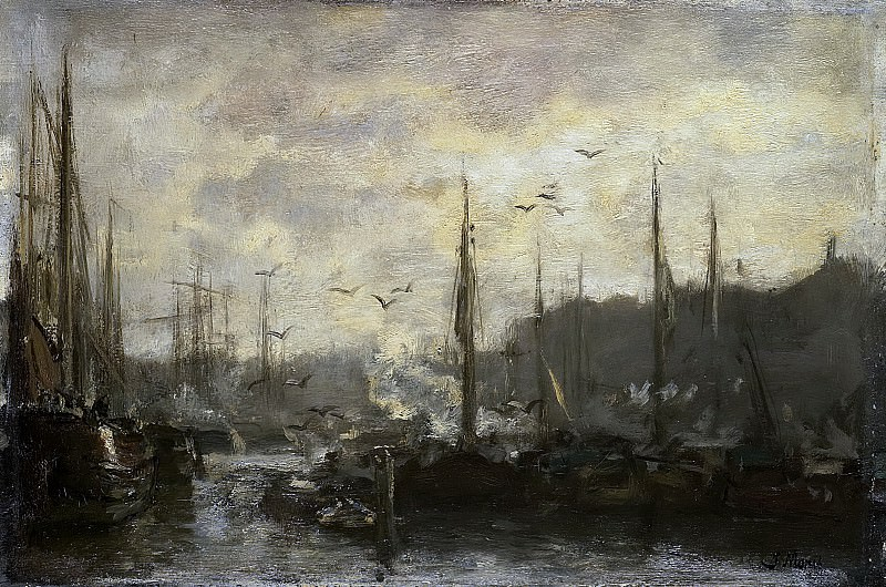 Maris, Jacob -- Havengezicht, 1887. Rijksmuseum: part 3