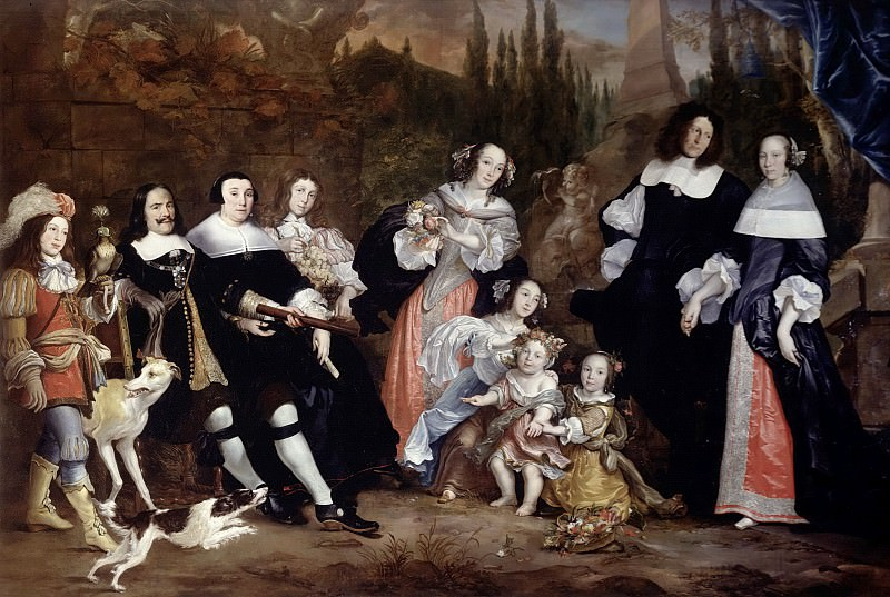 Jurian Iakobs -- Group Portrait of Michiel de Ruyter and his Family. Rijksmuseum: part 3