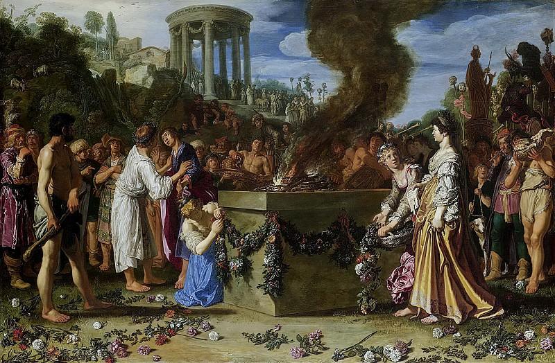 Lastman, Pieter -- De offerstrijd tussen Orestes en Pylades, 1614. Rijksmuseum: part 3