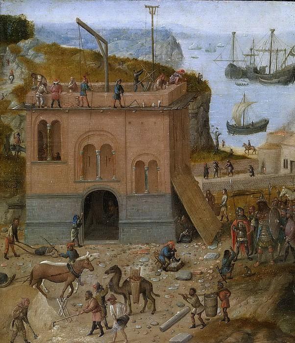 Неизвестный художник -- Вавилонская башня, 1480-1490. Рейксмузеум: часть 3