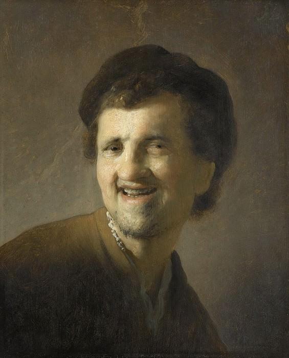 Рембрандт, Харменс ван Рейн -- Бюст смеющегося молодого мужчины, 1629-1630. Рейксмузеум: часть 3