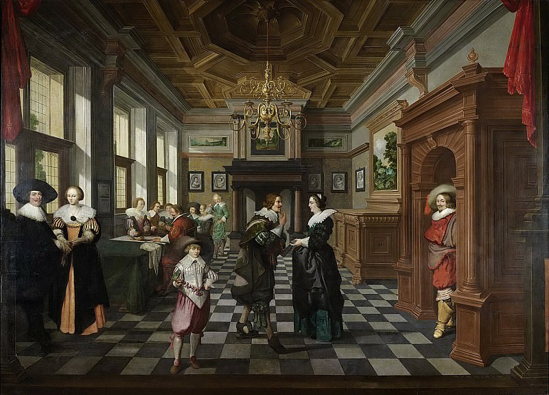 Delen, Dirck van -- Een interieur. Onderdeel van een zevendelig kamerbeschildering., 1630-1632. Rijksmuseum: part 3