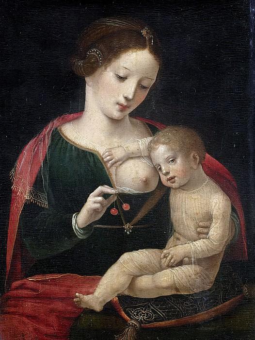Meester van de Vrouwelijke Halffiguren -- Maria met kind, 1520-1540. Rijksmuseum: part 3