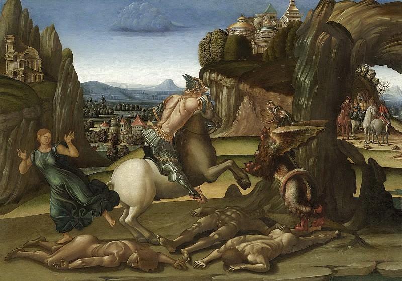 Signorelli, Luca -- Sint Joris en de draak, 1495-1505. Rijksmuseum: part 3