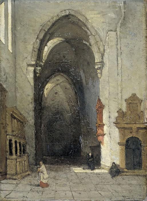 Bosboom, Johannes -- Interieur van de Domkerk te Trier, 1870-1880. Rijksmuseum: part 3