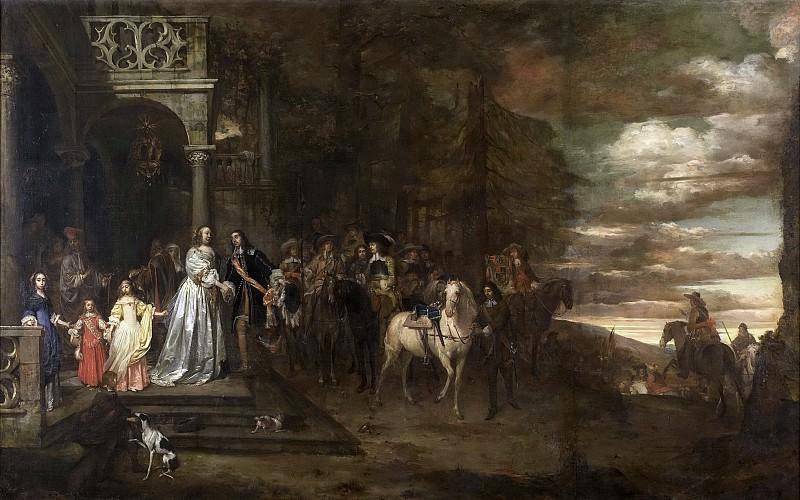 Андрадт, Питер ван -- Проводы хозяина Хендрика де Сандры (1619-1707), прощание его с женой и детьми, 1661. Рейксмузеум: часть 3