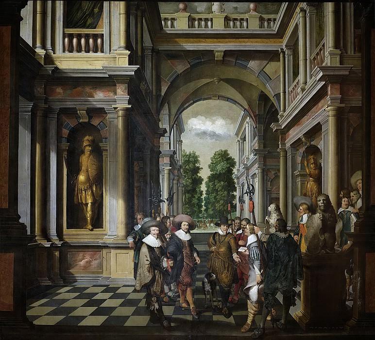 Delen, Dirck van -- Een galerij. Onderdeel van een zevendelige kamerbeschildering., 1630-1632. Rijksmuseum: part 3