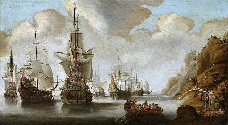 Bellevois, Jacob Adriaensz. -- Een Frans eskader bij een rotsachtige kust., 1640-1676. Rijksmuseum: part 3