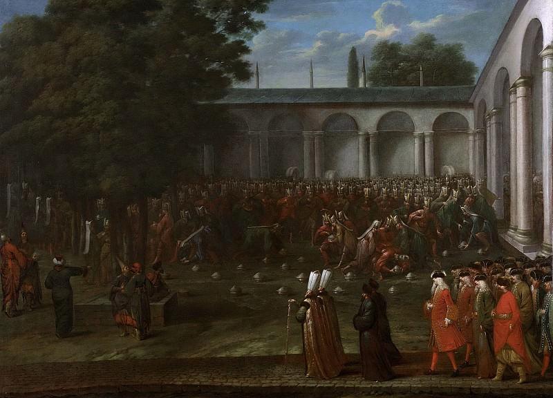 Ванмур, Жан Батист -- Корнелис Калкун по пути на аудиенцию у султана Ахмеда III, 1727-1737. Рейксмузеум: часть 3