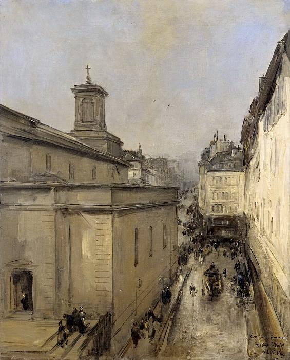 Vollon, Antoine -- Gezicht op de Notre Dame de Lorette en de Rue Fléchier te Parijs, 1860-1900. Rijksmuseum: part 3