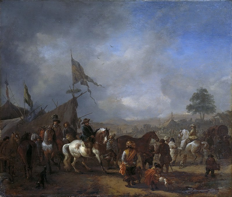 Wouwerman, Philips -- Een legerkamp, 1650-1668. Rijksmuseum: part 3