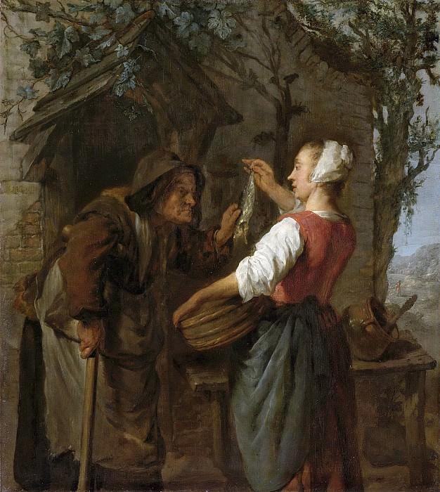 Metsu, Gabriël -- De haringkoopvrouw, 1661-1662. Rijksmuseum: part 3