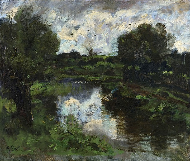 Марис, Якоб -- Польдер и близящаяся гроза, 1892. Рейксмузеум: часть 3