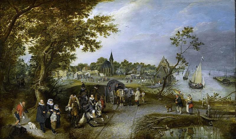 Venne, Adriaen Pietersz. van de -- Landschap met figuren en een dorpskermis, 1615. Rijksmuseum: part 3