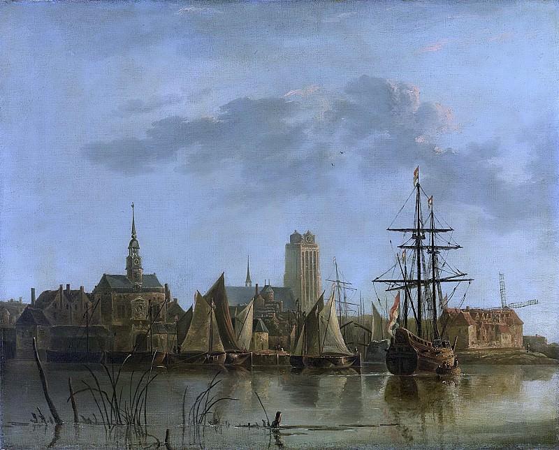 Cuyp, Aelbert -- Gezicht op Dordrecht bij zonsondergang, 1700-1799. Rijksmuseum: part 3