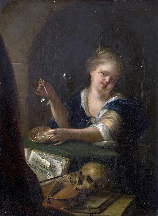Werff, Adriaen van der -- Bellenblazend meisje bij een vanitas stilleven, 1680-1775. Rijksmuseum: part 3
