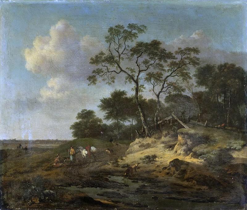 Wijnants, Jan -- Duinlandschap met rustende jagers, 1655-1684. Rijksmuseum: part 3