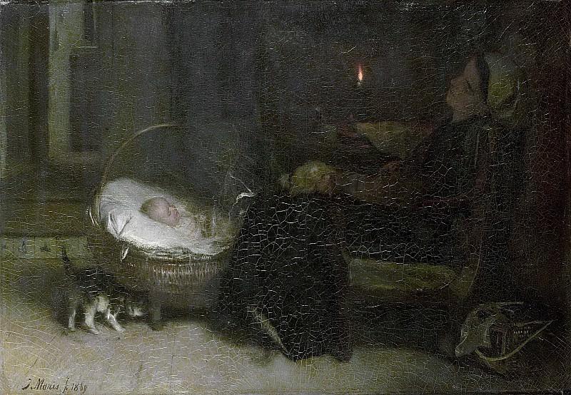 Марис, Якоб -- Уставшая смотреть, 1869. Рейксмузеум: часть 3