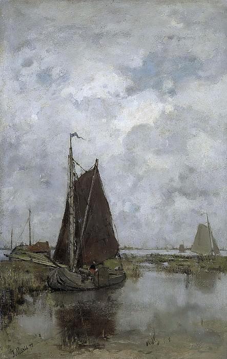 Maris, Jacob -- Grauwe dag met schepen, 1877. Rijksmuseum: part 3