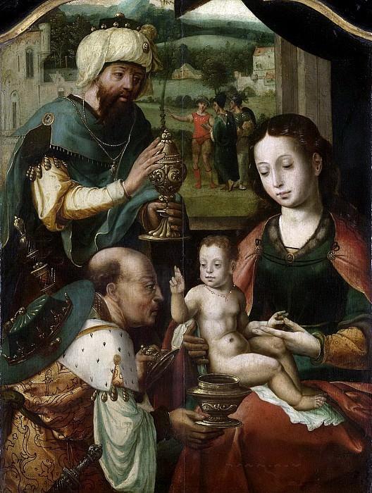 Coecke van Aelst, Pieter (I) -- Drieluik met de aanbidding der koningen, 1520-1550. Rijksmuseum: part 3