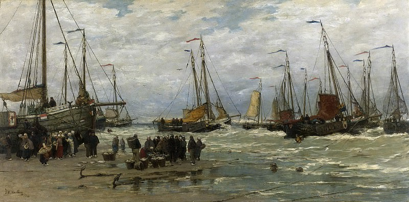 Mesdag, Hendrik Willem -- Pinken in de branding, 1875-1885. Rijksmuseum: part 3