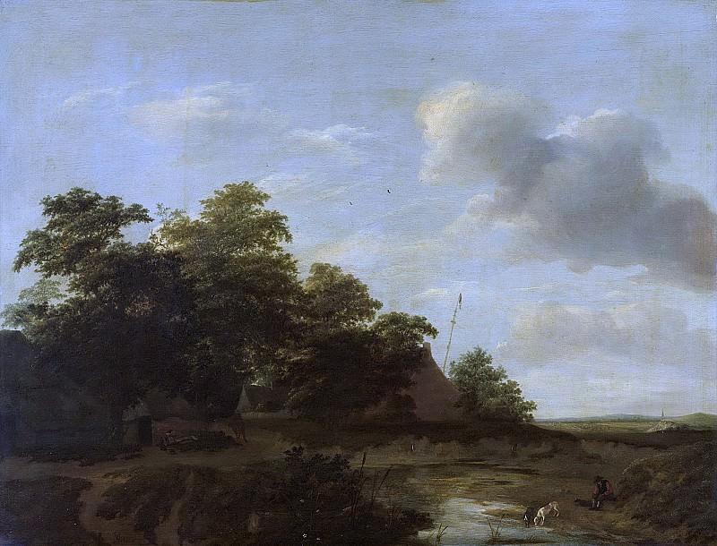 Vermeer van Haarlem, Jan (I) -- Landschap met boerderij, 1648. Rijksmuseum: part 3
