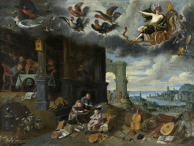 Unknown artist -- Verheerlijking van handel en wetenschap, 1625-1649. Rijksmuseum: part 3
