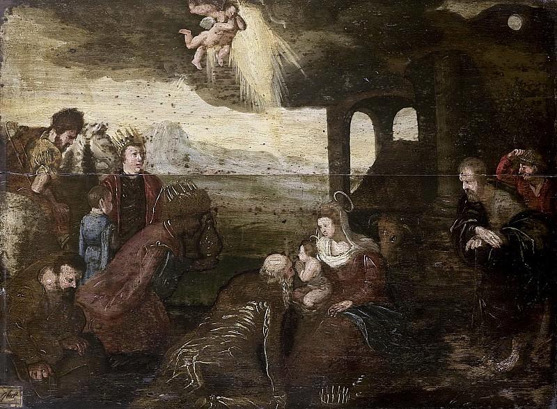 Unknown artist -- De aanbidding der koningen, 1500-1599. Rijksmuseum: part 3