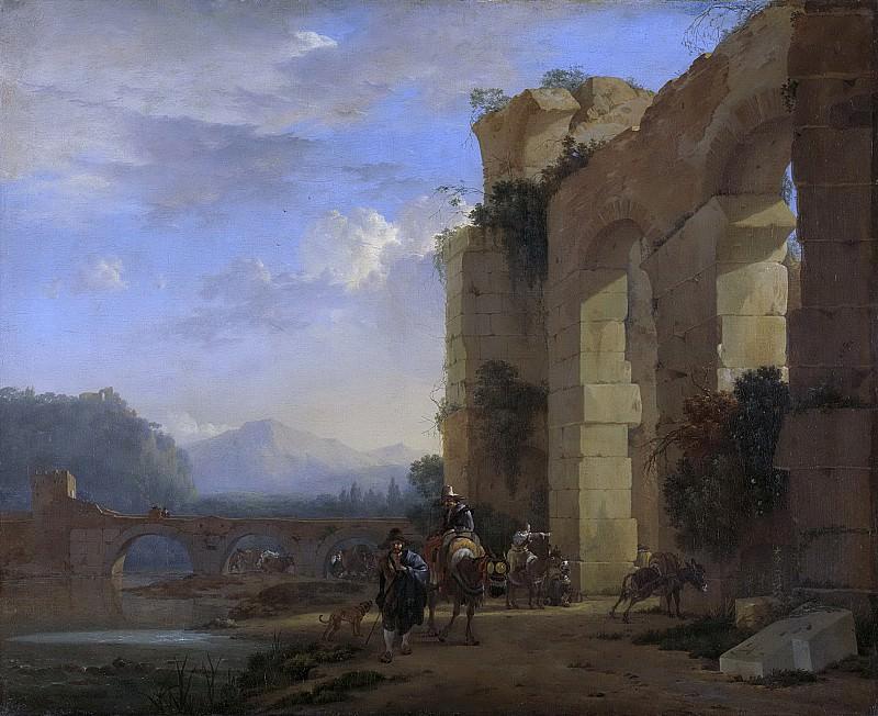 Асселейн, Ян -- Погонщики ослов у итальянских руин, 1640-1652. Рейксмузеум: часть 3