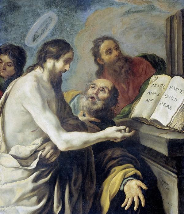 Виньон, Клод -- Христос, наказывающий Петру: Паси овец моих, 1624. Рейксмузеум: часть 3