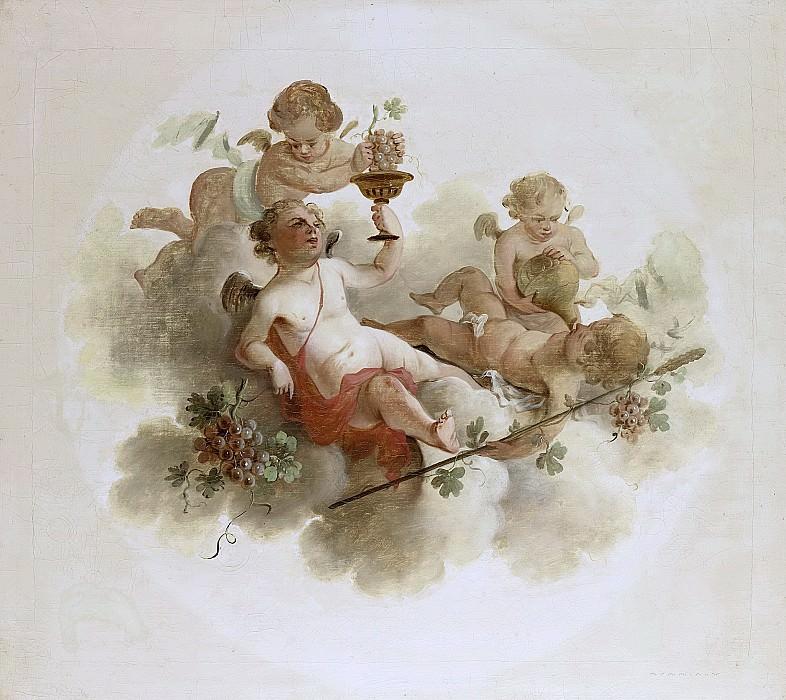 Unknown artist -- Vier putti met druiven, 1725-1774. Rijksmuseum: part 3