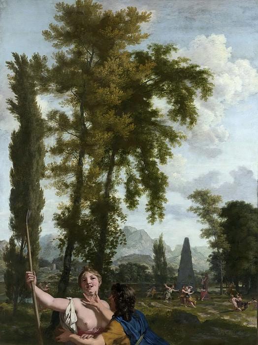 Lairesse, Gerard de -- Italiaans landschap met herderspaar, 1687. Rijksmuseum: part 3