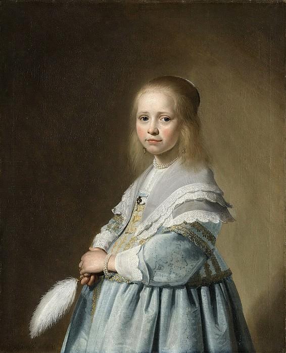 Verspronck, Johannes Cornelisz. -- Portret van een meisje in het blauw, 1641. Rijksmuseum: part 3