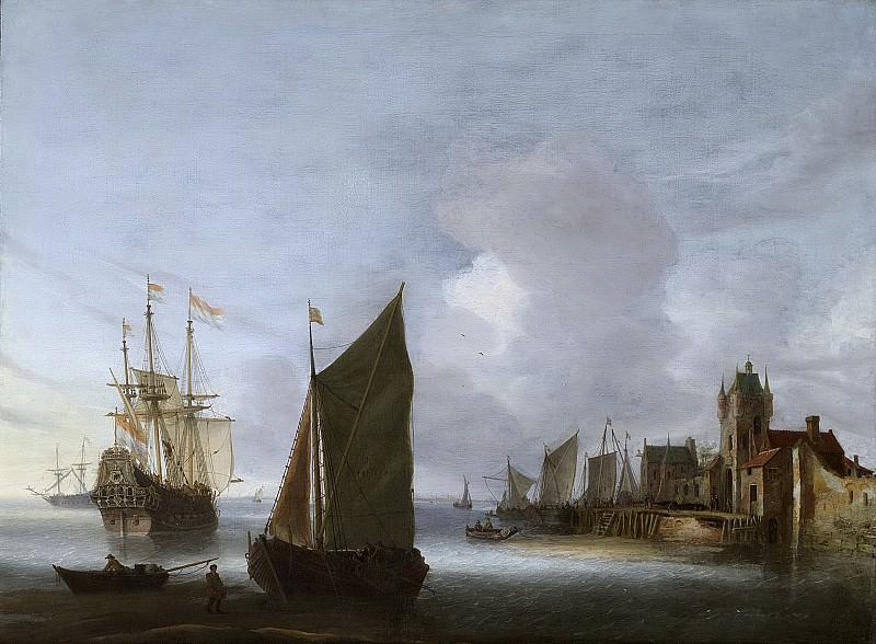 Anthonissen, Hendrick van -- Schepen op de Oosterschelde bij de Zuidhavenpoort van Zierikzee, 1640-1656. Rijksmuseum: part 3