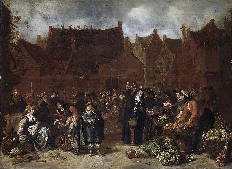 Сейбранд ван Бест -- Овощной рынок, 1646. Рейксмузеум: часть 3
