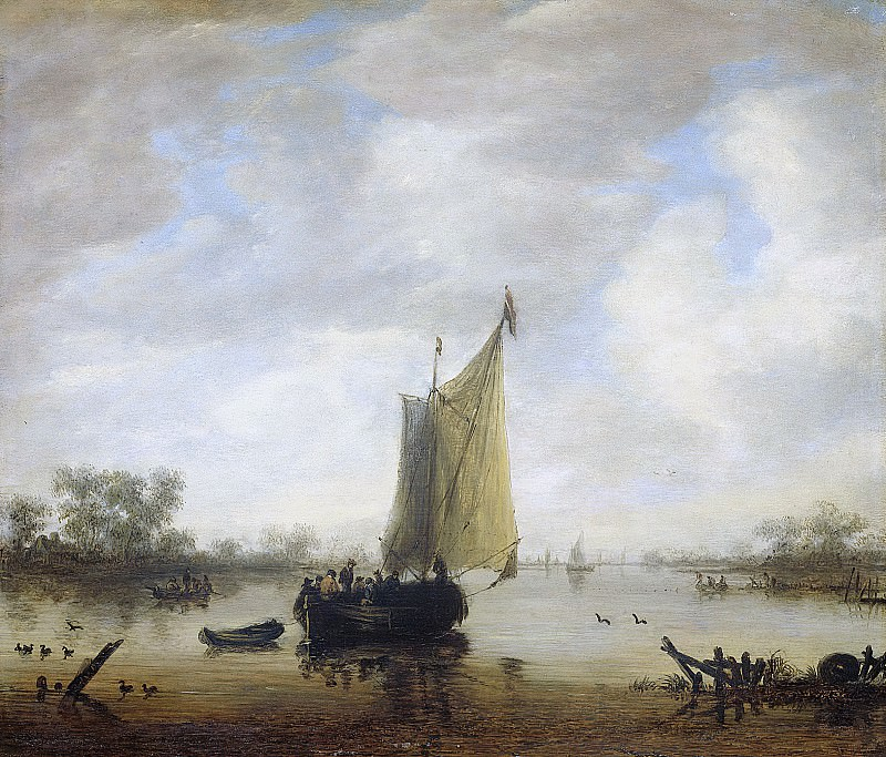 Иероним ван Дист (II) -- Вид реки, 1650-1675. Рейксмузеум: часть 3