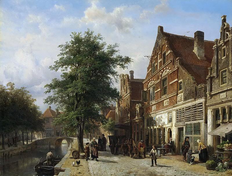 Springer, Cornelis -- De Zuiderhavendijk in Enkhuizen, 1868. Rijksmuseum: part 3