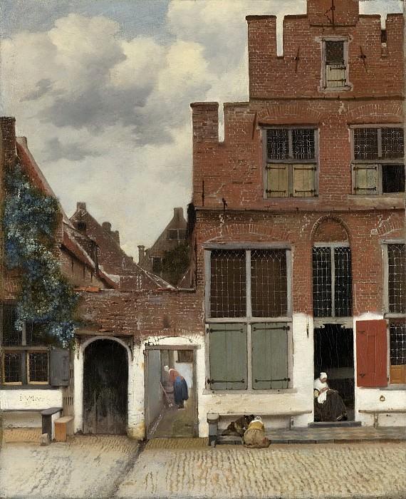 Vermeer, Johannes -- Gezicht op huizen in Delft, bekend als 'Het straatje, 1658. Rijksmuseum: part 3