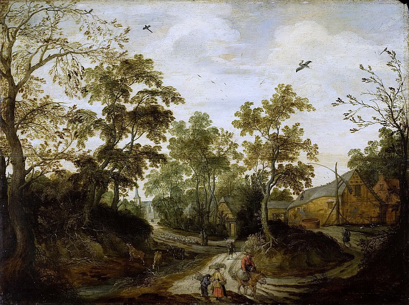 Виллем ван ден Бундель -- Вид деревни, 1623. Рейксмузеум: часть 3