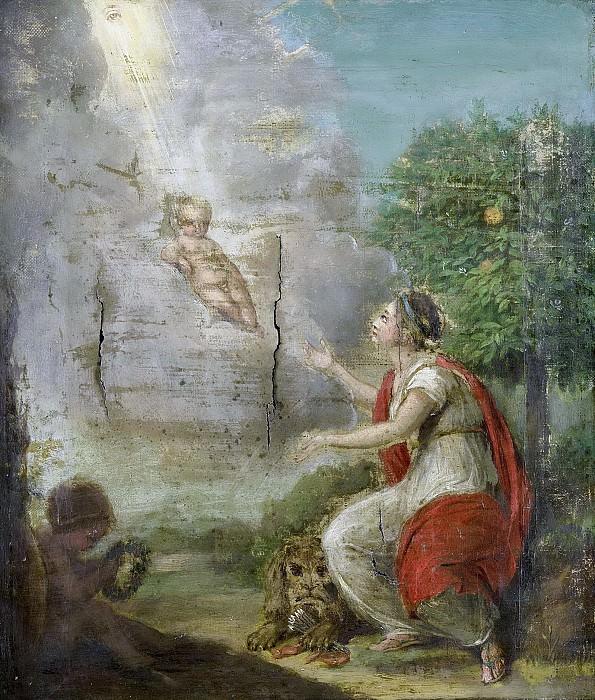 Unknown artist -- Allegorische voorstelling op de geboorte van Willem Frederik (1772-1843), prins van Oranje-Nassau, de latere koning Willem I, 1772. Rijksmuseum: part 3